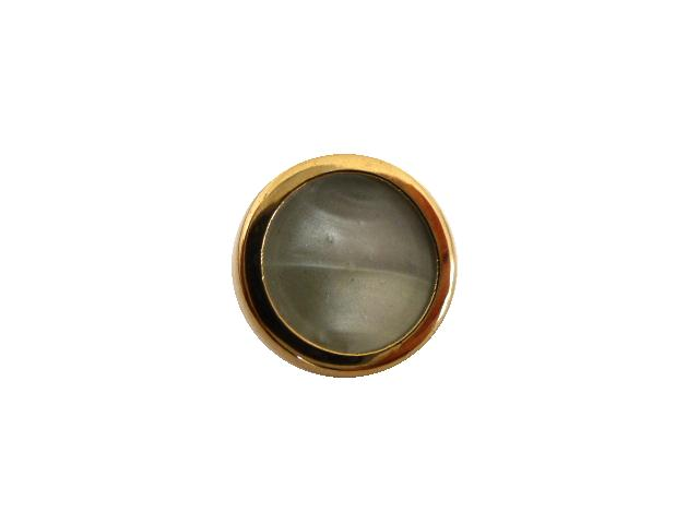 Gilt Grey Mother of Pearl Waistcoat button (no.00752)