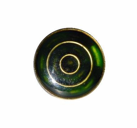 Dark Green Enamel Target button (No.00312)