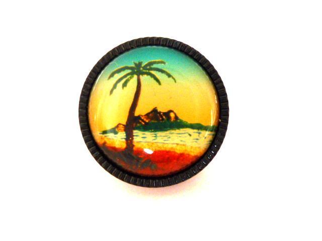 Palm Tree Cheesecake Plastic Button