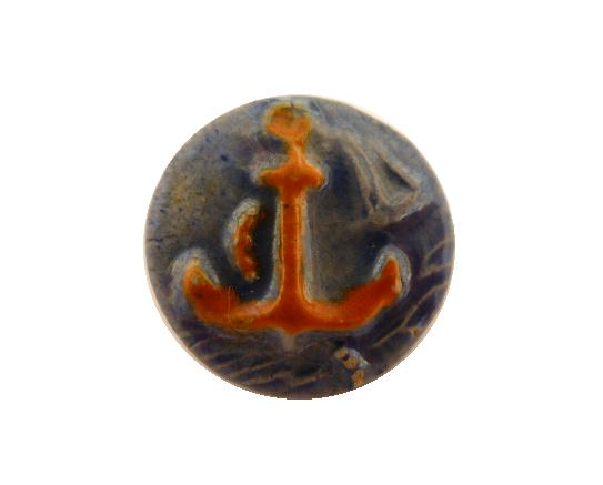 Anchor Pottery button by Eva Barta