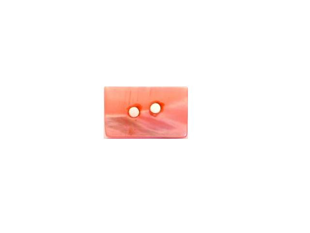 Pink Dyed Mother of Pearl Tiny Rectangular button (no.00753)