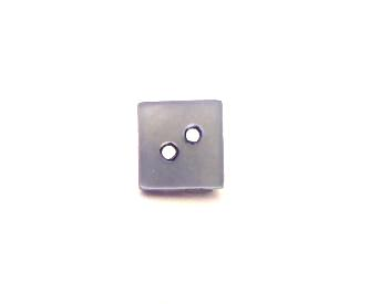 Tiny Square Blue dyed Mother-of-pearl button (no. 00759)