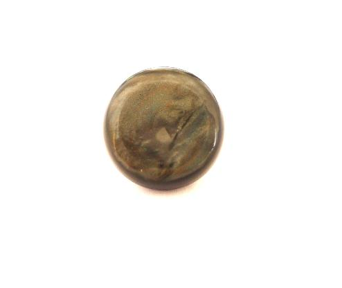 Grey Galalith Dimple Dome button (no.00547)