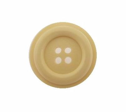 Cream Raised 4 Hole button (no. 00499)