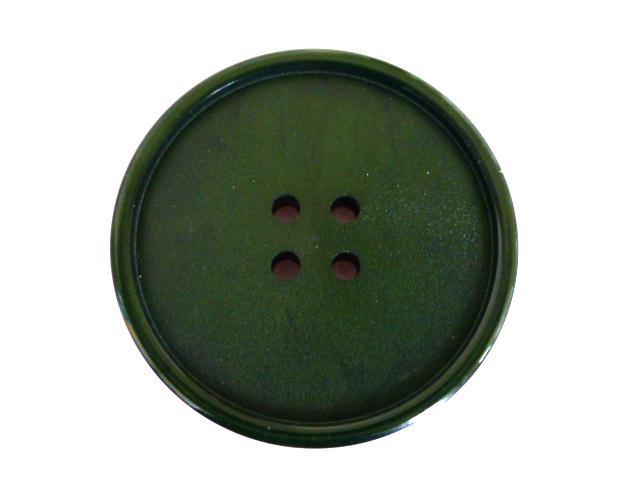 Dark Green Mottled Casein 4 Hole button (no.00267)