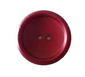 Maroon rounded edge plastic button (00544)