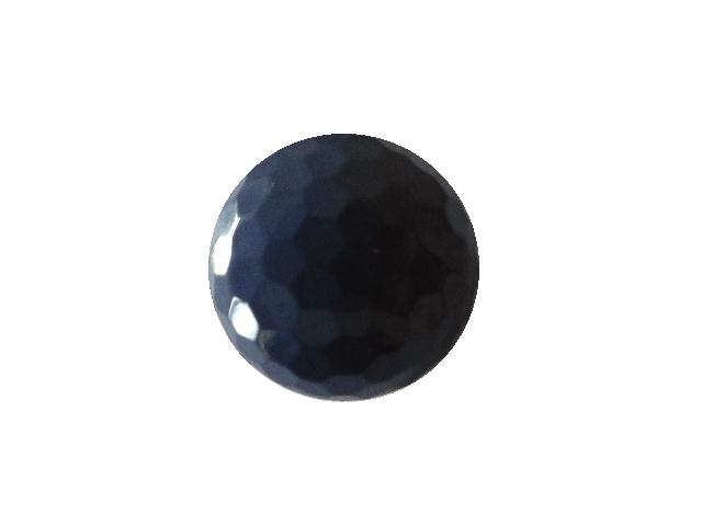 Dark Lilac Hexagonal Facet Dome button (no.00788)