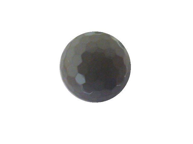 Mid- Grey Hexagonal Facet Dome button (no.00789)