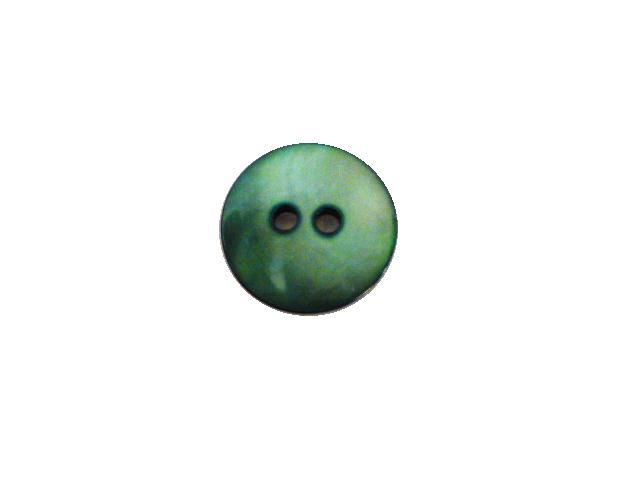 Dyed Emerald Green Mother-of-Pearl button (no.00792)