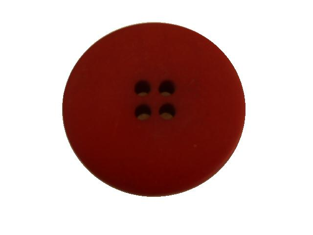 Dark Red Matt Flat 4- Hole button (no.00503)