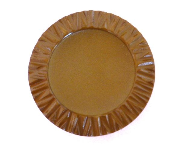 Dark Mustard Pie Crust Edge button (no. 00810)