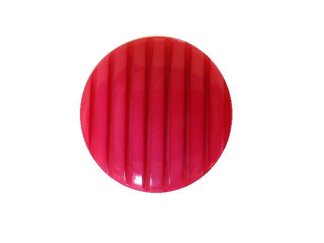 Thick Shocking Pink Ridged button (no.00814)