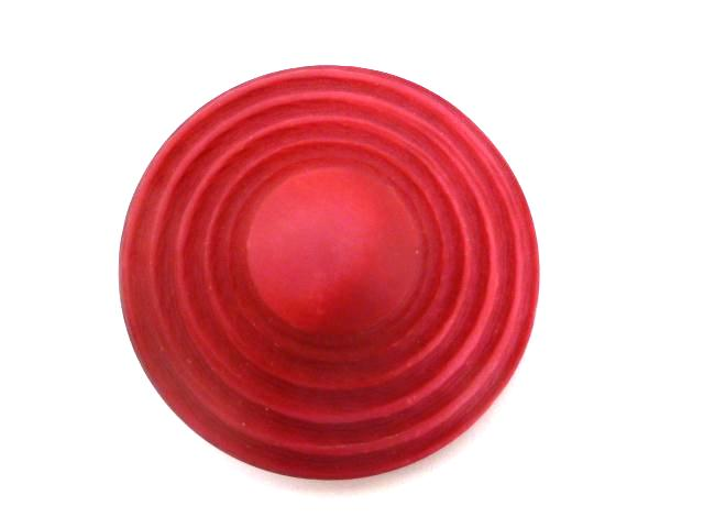 Cerise Pink Extra Large UFO-shape button (no. 00839)