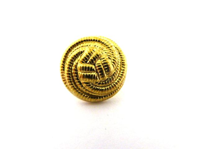 Gold Triskel Knot Design button (no.00802)