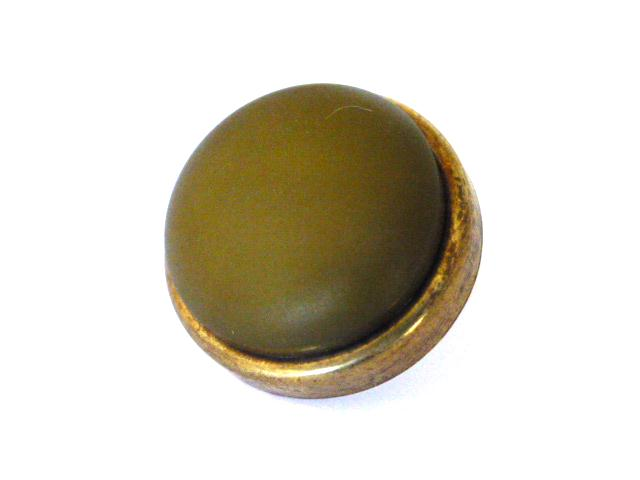 Green Leatherette High Dome Brass button (no. 00844)