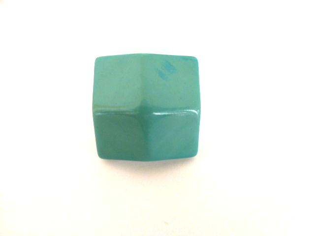Turquoise Square Facet button (no.00861)