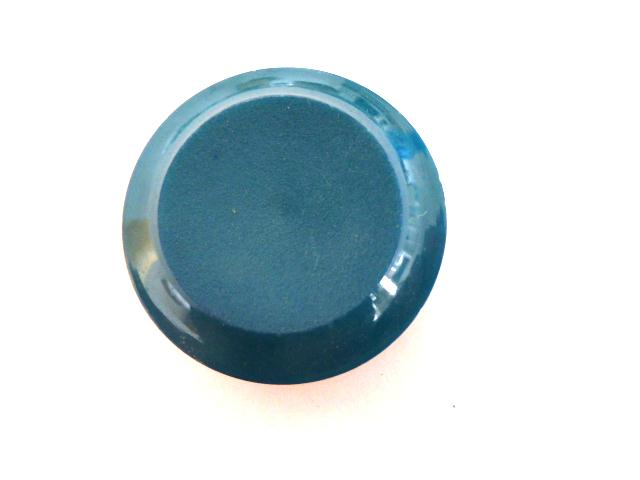 Green Blue Matt Concave Centre button (no.00859)