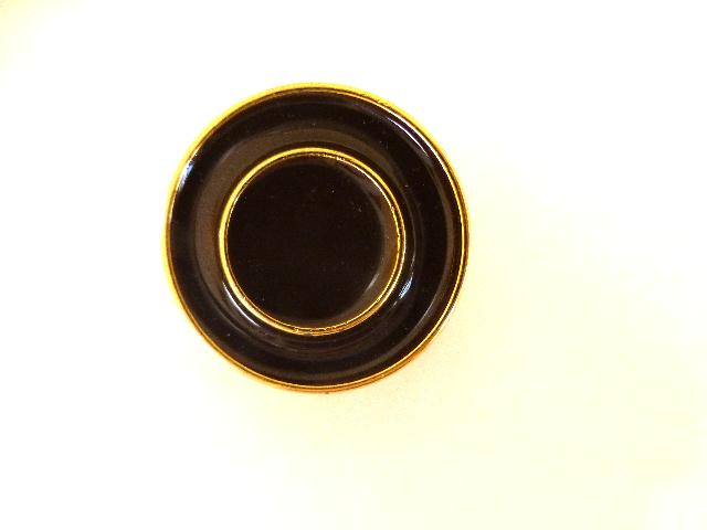 Dark Brown Enamel Gold Circle button ( no.00868)