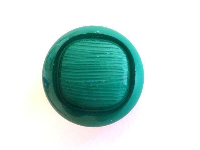 Bright Emerald Green Sq. Dome button (00875)