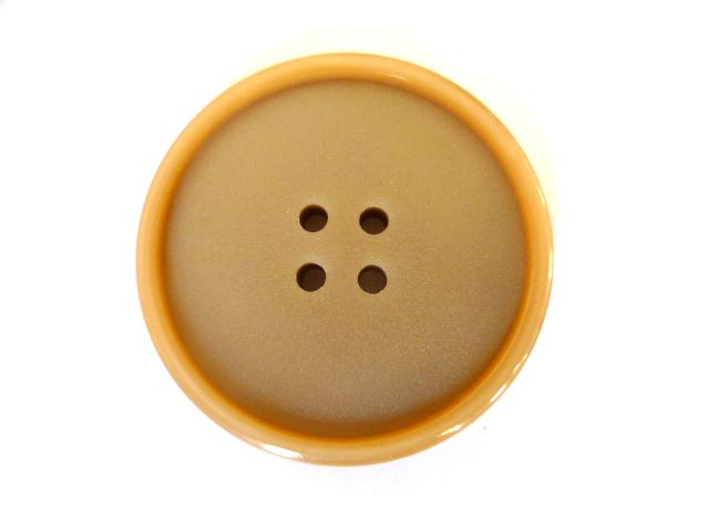Beige Casein large 4 Hole button (no.00536)