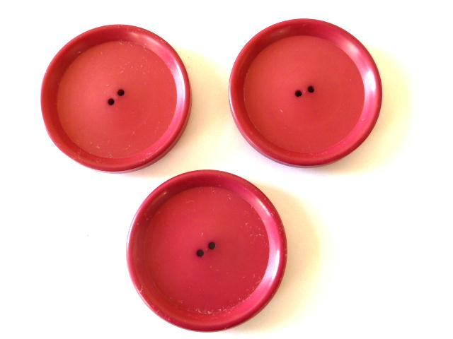Set of 3 Extra Large Cyclamen Pink buttons