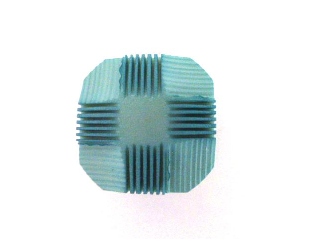 Light Blue Chequer Square button (no.00889)