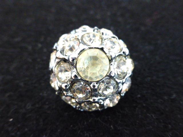 White Diamonte Domed button ( no.00793)