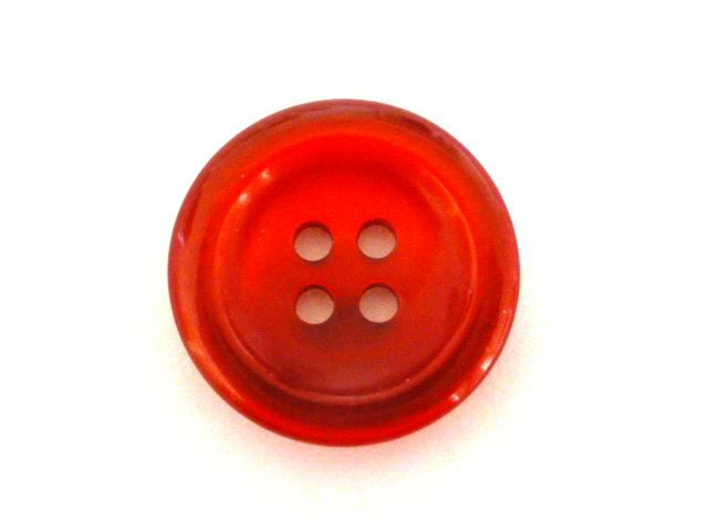 Red Nylon Glow 4 Hole button (no.00897)