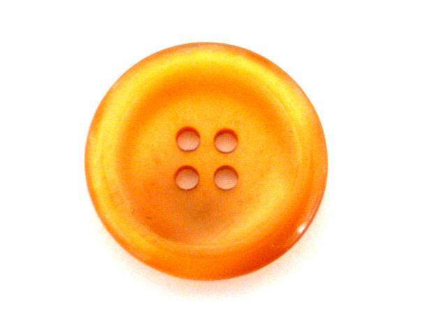 Orange Nylon Glow Larger 4 Hole button ( no.00890)