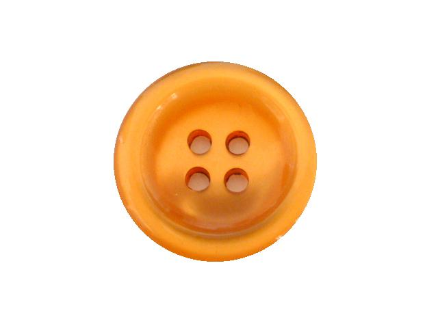 Orange Nylon Glow 4 Hole button ( no.00891)