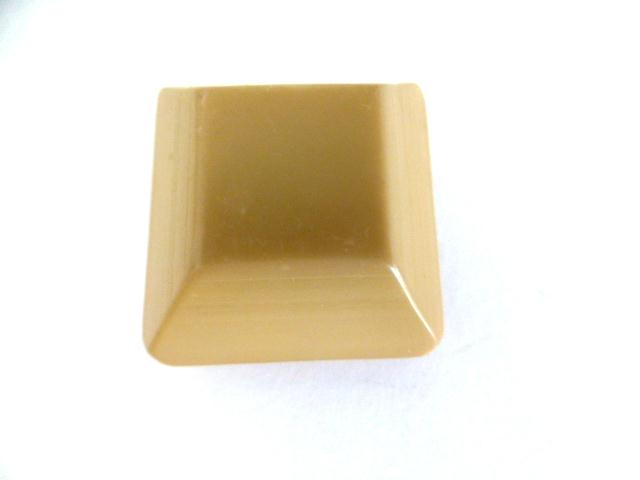 Camel Chunky Canted Square button (no.0907)