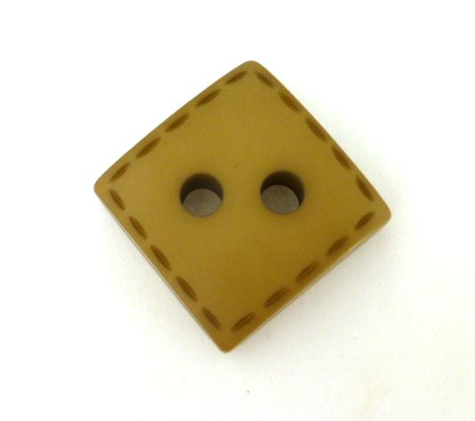 Camel Thick Stitch Square Large button (no.0909)