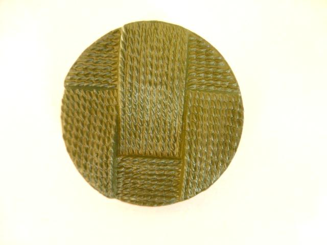 Set of 4 Extra Large Green Basketweave buttons