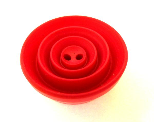 Fushia Pink High Grooved Draught button (no.0910)