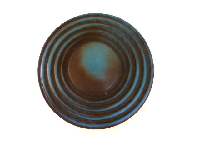 Blue/ Black Extra Large UFO button (no.0911)