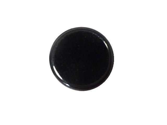 Black Velvet Dome with Rim button (no.00906)