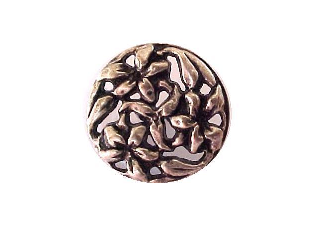 Silver Art Nouveau-style button (No.00210)