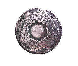 Georgian-Style Antiqued Silver button (00089)