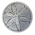 Silver Feathers button (00095)