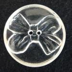 Large Perspex/Lucite Bow button (no.00213)