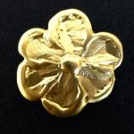 Large Gold Flower Metal button