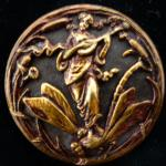 Art Nouveau Lady and Dragonfly Large Picture button