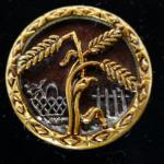Wheat, Basket of Cherries and Picket Fence Picture button