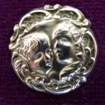 'Renoylds Angels' Sterling Silver button 1900