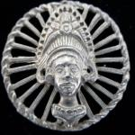 Large Ethnic Metal Head Vintage button
