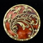 Large Celluloid Gilt Rococo button