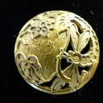 Brass Dragonfly button