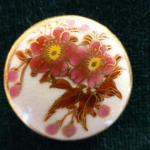 Japanese Satsuma Floral button