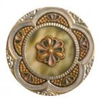 Large Fancy Metal Celluoid button