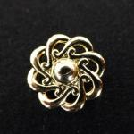 Gold Open Edge Flower button (no.00136)
